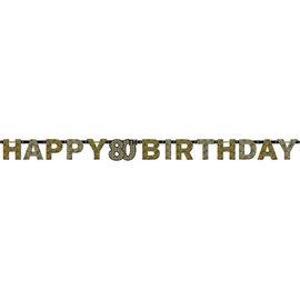 Sparkling Celebration 80 Prismatic Letter Banner