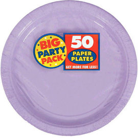 "Lavender Big Party Pack Paper Plates, 7"" -50ct"