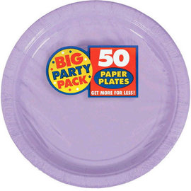 "Lavender Big Party Pack Paper Plates, 9""  -50ct"