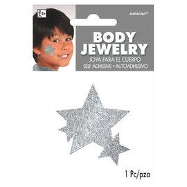 Silver Spirit Glitter Body Jewelry