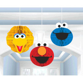 Sesame Street® Honeycomb Decorations