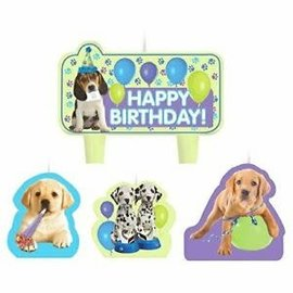 Party Pups Candle Set of 4