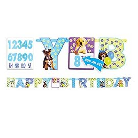 Party Pups Add An Age Banner- Clearance