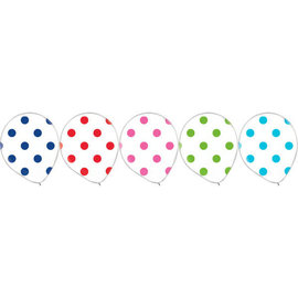 "Latex Balloon Rainbow Dots 12""- 20ct"