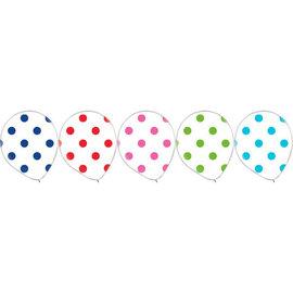 "Latex Balloon Rainbow Dots 12""- 20ct"