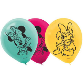 ©Disney Minnie Mouse Happy Helpers Printed Latex Balloons, 6 ct.