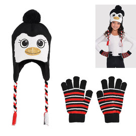 Penguin Hat and Glove Set