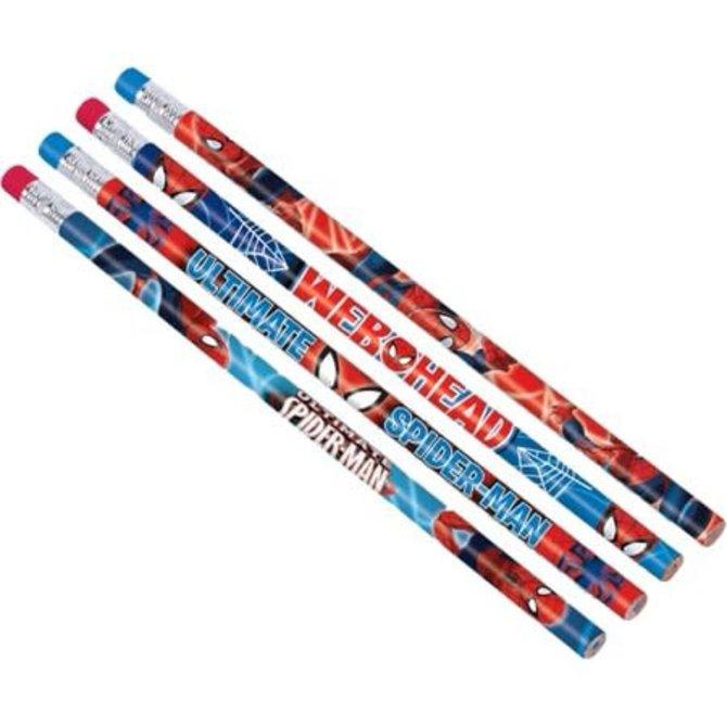 Spiderman Pencil Favors, 12ct