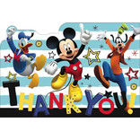 ©Disney Mickey on the Go Postcard Thank You, 8ct