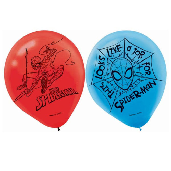 "Spider-Man™ Webbed Wonder Latex 12"" Balloons, 6ct"