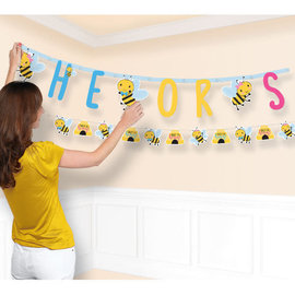 What Will It Bee Jumbo Letter Banner