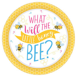 "What Will It Bee? Round Plates, 10 1/2"" -8ct"