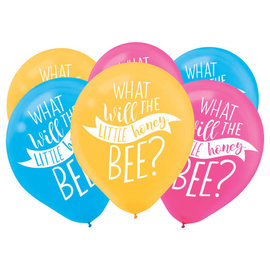 What Will It Bee Latex Balloons Asst Colors 15Pk