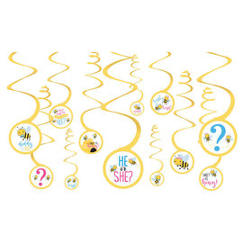 What Will It Bee Spiral Decorations Value Pack, 12Ct