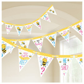 What Will It Bee Pennant Banner