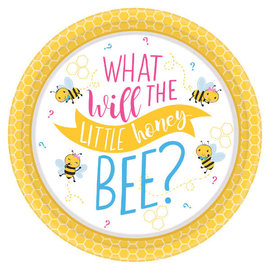 "What Will It Bee? Round Plates, 7"" -8ct"