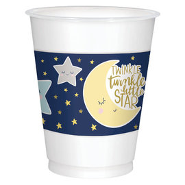 Twinkle Twinkle Little Star Plastic Cups 16Oz 25Ct