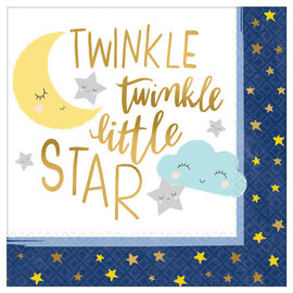 Twinkle Twinkle Little Star Lunch Napkins 16Ct