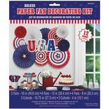Deluxe Patriotic Paper Fan Decorating Kit