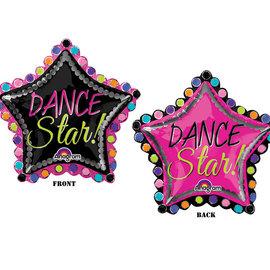 """Dance Star Shape Balloon, 30"""" (#261)"""