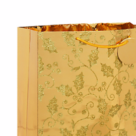 Deluxe Gold Holly Bag w/Glitter