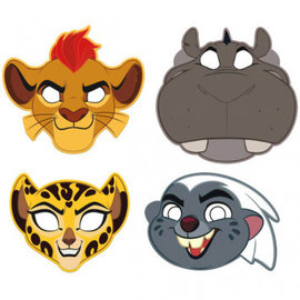 ©Disney The Lion Guard Paper Masks 8ct- Clearance
