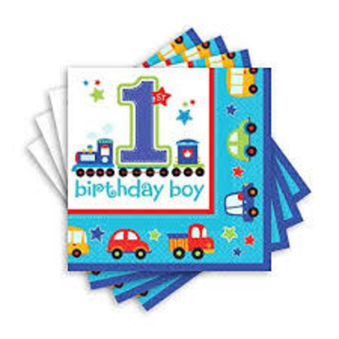 All Aboard Birthday Luncheon Napkins, 36ct