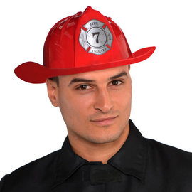 Red Firefighter Hat- Adult