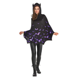 Bat Poncho- Adult Standard