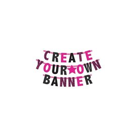 Create-Your-Own-Banner, Bright Pink
