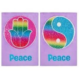 """Peace"" Magic Wall Sequin Wall Art"