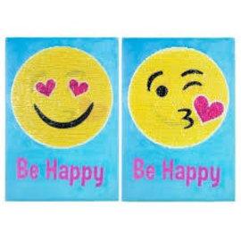 """""""Be Happy"""" Magic Sequin Wall Art"""