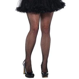 Black Fishnet Stockings- Adult Plus