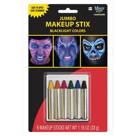 Jumbo Make-Up Sticks- Blacklight Colors