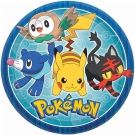 "Pokemon™ Round Plates, 9"" -8ct"