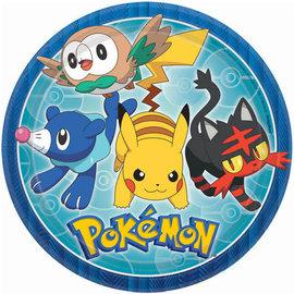 "Pokemon™ Round Plates, 9"" -8ct"