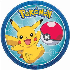 "Pokemon™ Round Plates, 7"" -8ct"
