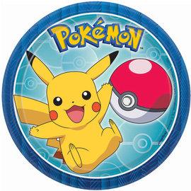 "Pokemon™ Round Plates, 7"" -8ct"