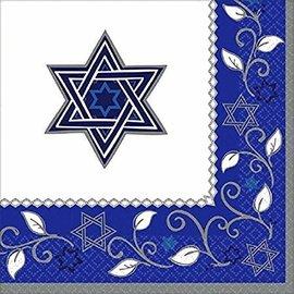Joyous Jewish Holiday Luncheon Napkins, 16ct