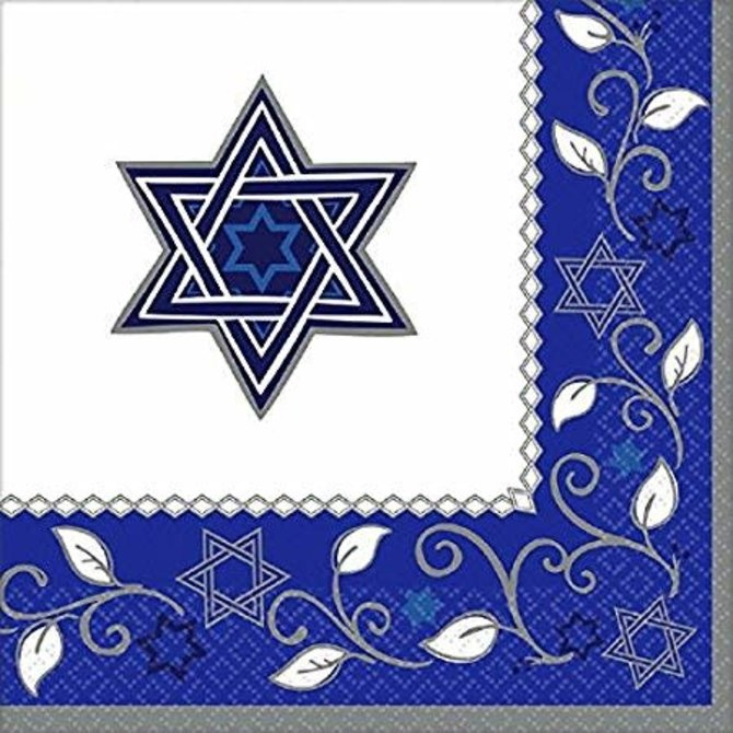 Joyous Jewish Holiday Luncheon Napkins, 16ct