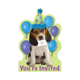 Party Pups Invitations, 8ct- Clearance