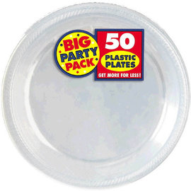 Clear Big Party Pack Plastic Plates, 7""