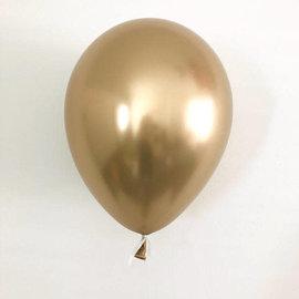 Qualatex Chrome Latex Balloon Gold 25ct