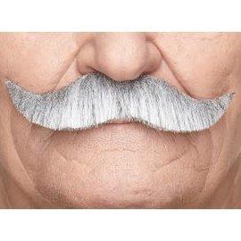 German Mustache- White/Grey