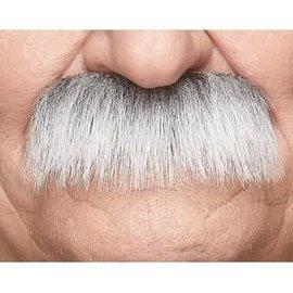 Lampshade Mustache- White/Grey