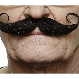 Handlebar Mustache- Black