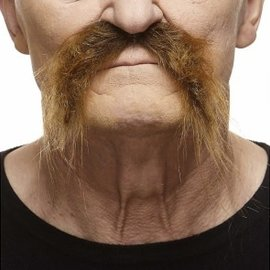 Fu Manchu Mustache- Brown