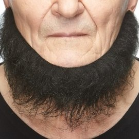 Chin Curtain Beard- Black