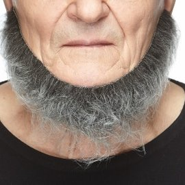 Chin Curtain Beard- Grey