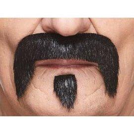 The Zappa Mustache with Beard- Black